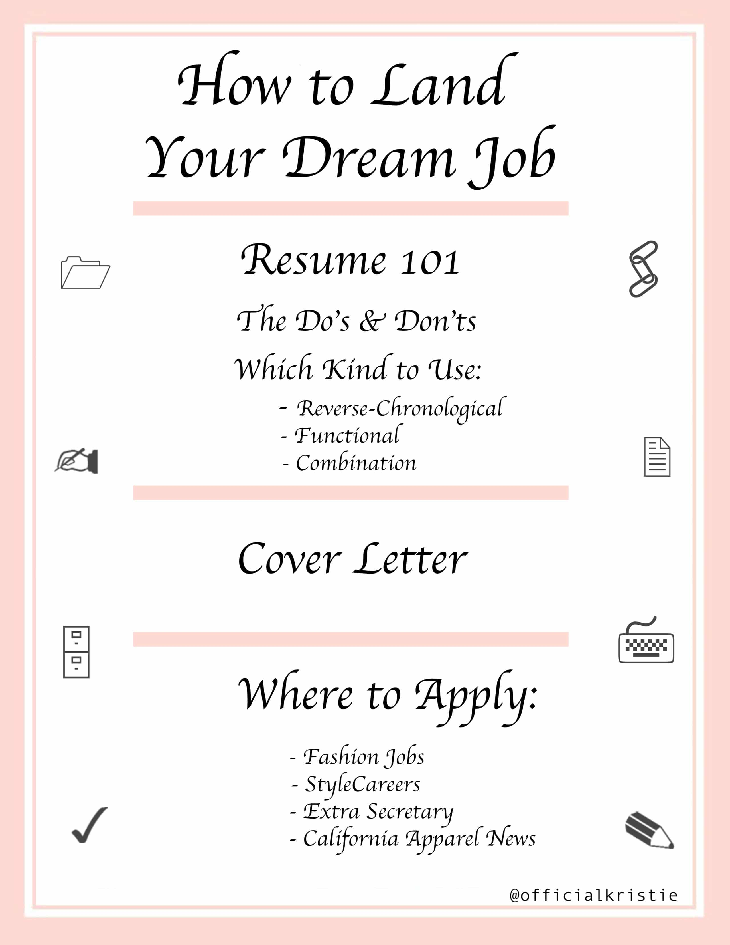 create the ideal resume