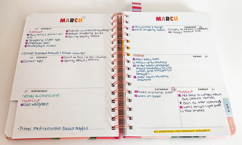 How To Use A Planner Effectively