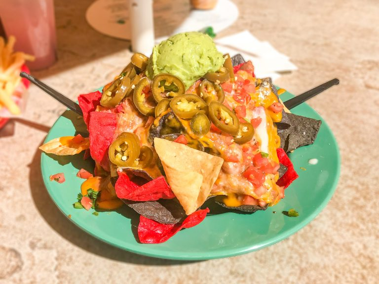 Tasty Nachos from The Oasis Bar & Grill