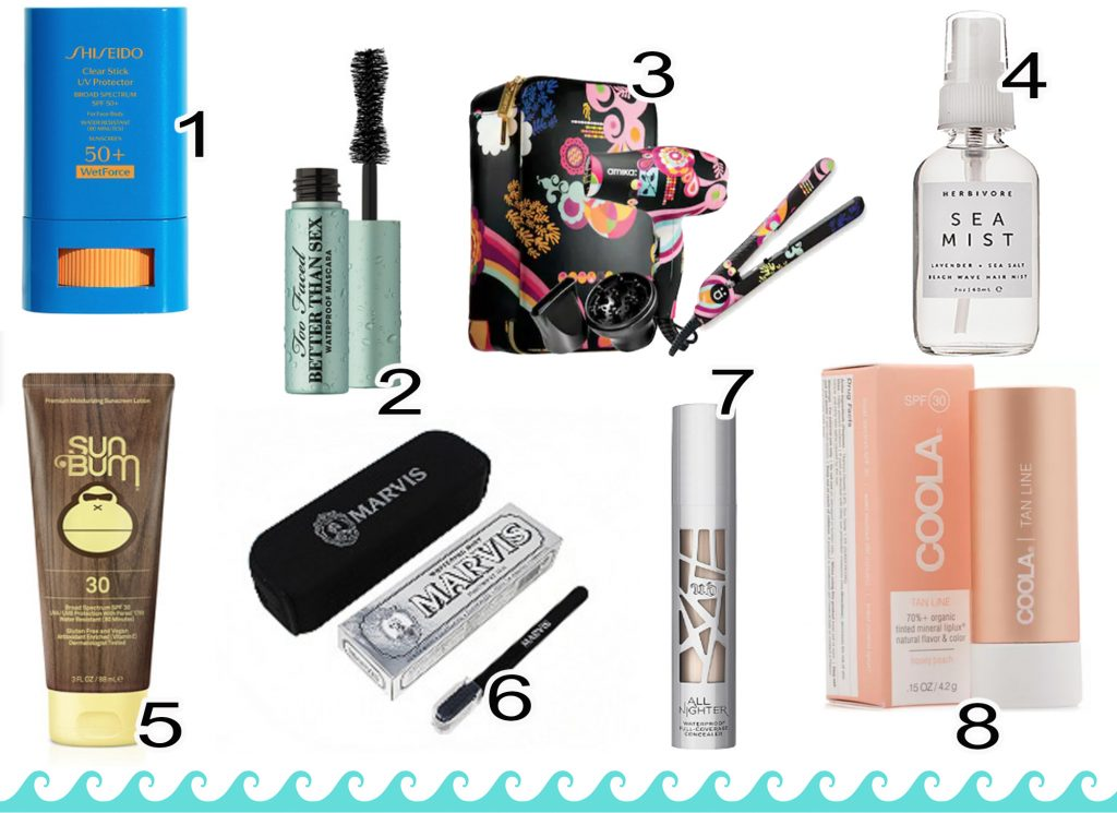 Makeup and Toiletries Packing List
