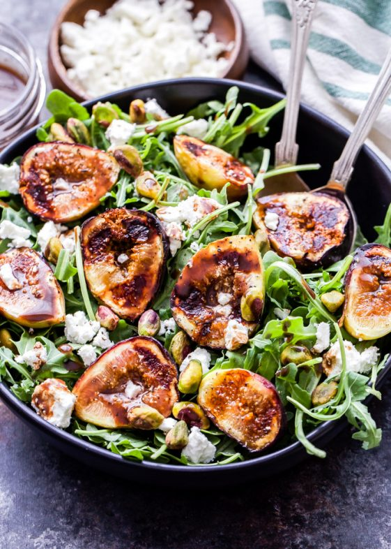 Grilled Fig Goat Cheese Pistachio Salad Picture