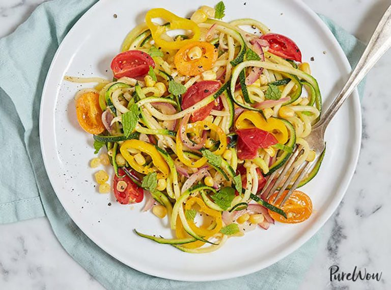 summer zoodle pasta