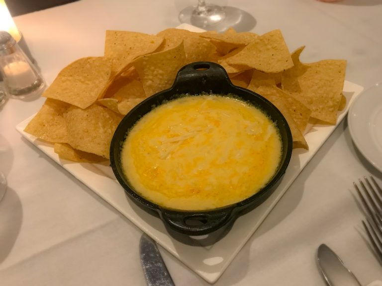 Queso dip from The Wharf Restaurant at The Madison Beach Hotel