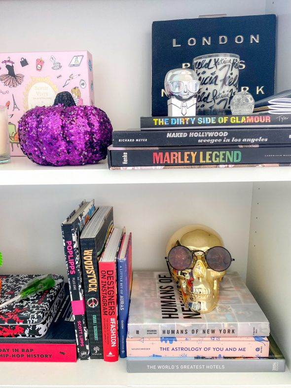 I'm obsessed with Target's Hide and Eek Boutique; there are so many cute skulls, pumpkins, and knick-knacks and they're super affordable.