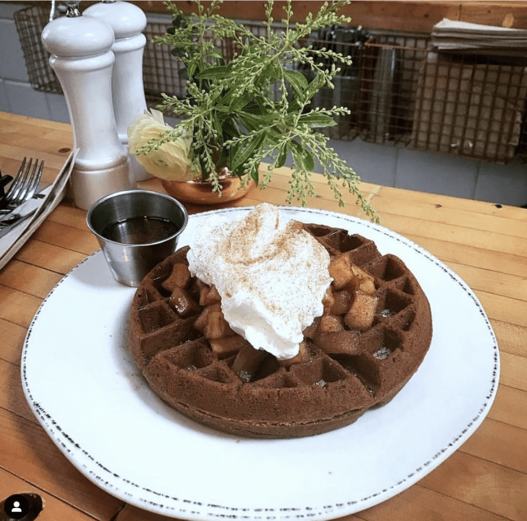 Ginger snap waffle from The Butcher's Daughter