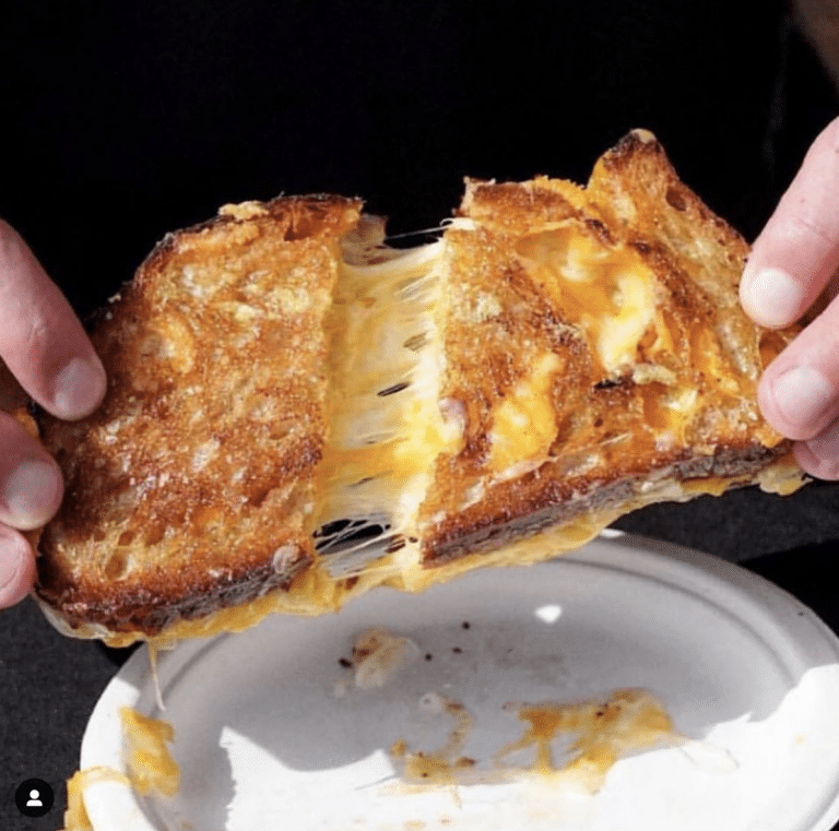 Grilled cheese from Cheezus LA