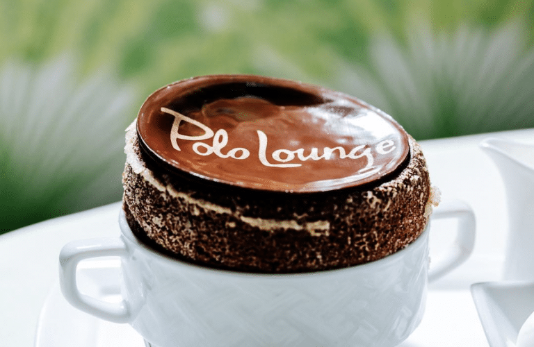 Peanut butter soufflé from The Polo Lounge