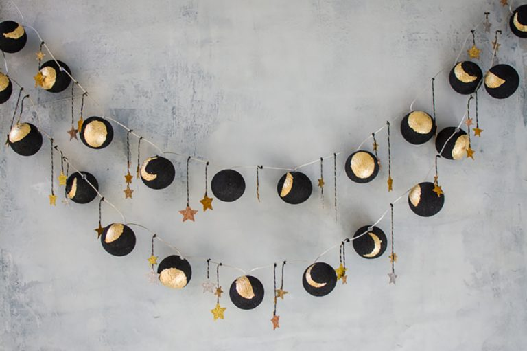DIY Moon Garland