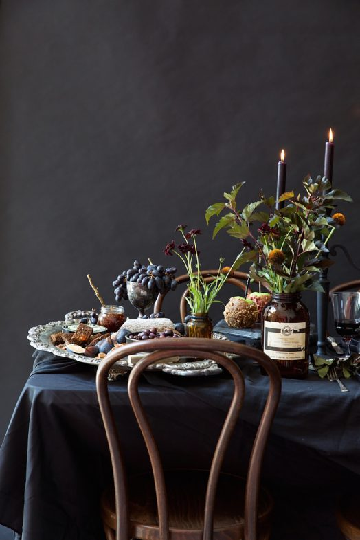 Elegant Halloween Party Table