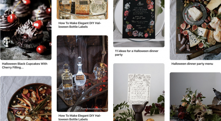 Elegant Halloween Party Pinterest Board