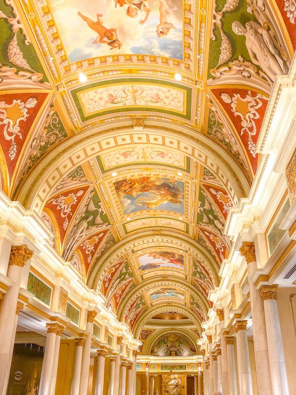 Renaissance inspired architecture at the Venetian