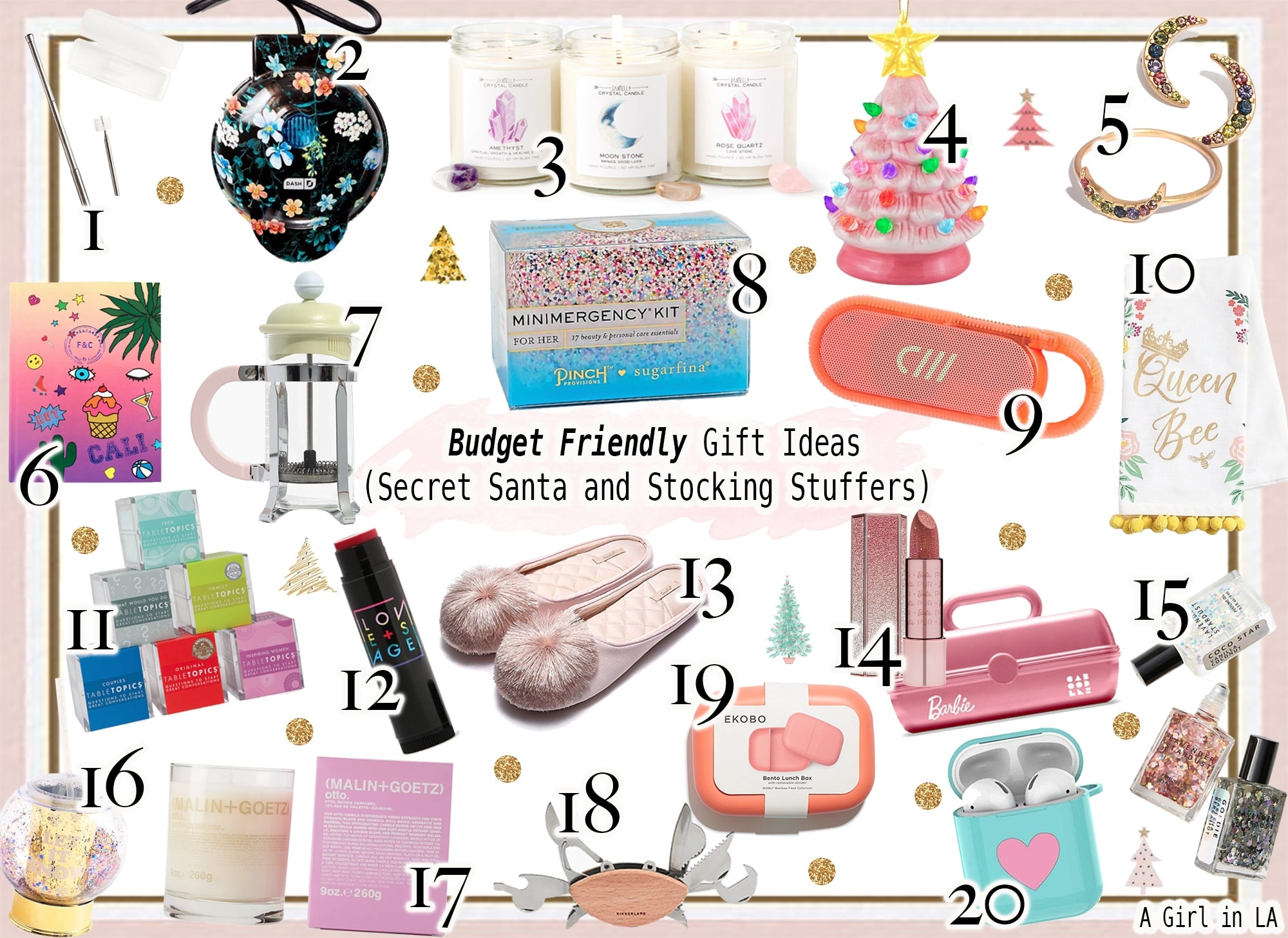 Budget Friendly Gift Ideas Under $25 Dollars