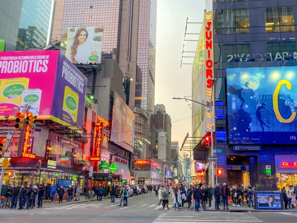 Times Square in December