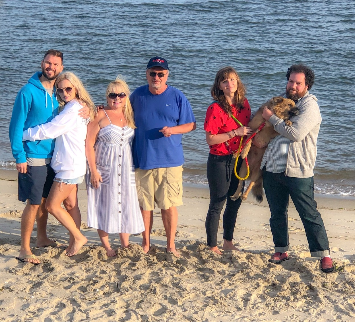 Memories of 2019, family photo on the beach