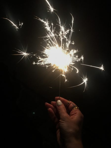 Sparklers on Labor Day
