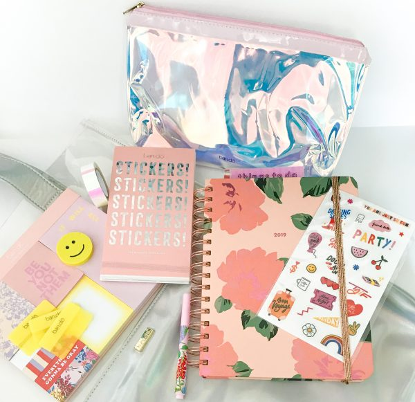 Ban.do planner, stickers, and holographic pouch