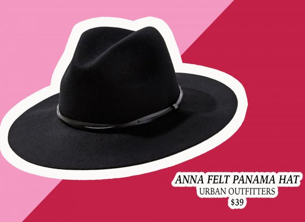 My Holiday Wish List: Black Panama Hat from Urban Outfitters