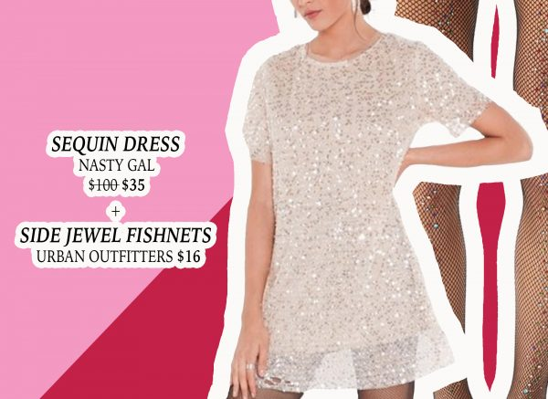 My Holiday Wish List: Sequin Dress from Nasty Gal and Jeweled Fishnets from Urban Outfitters