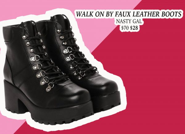 My Holiday Wish List: Faux Leather Combat Boots from Nasty Gal