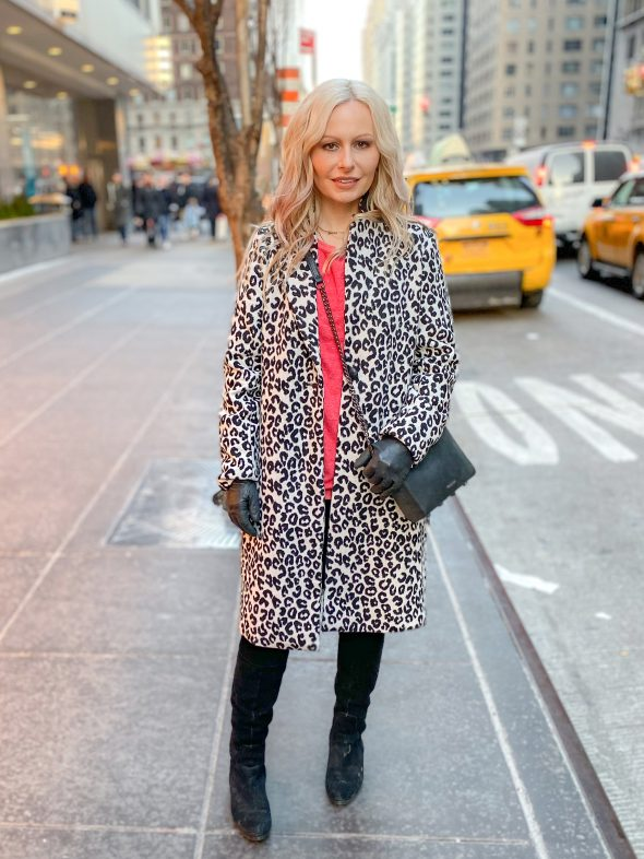 What I Wore On My Five-Day Trip To The Big Apple: Rachel Zoe leopard print coat