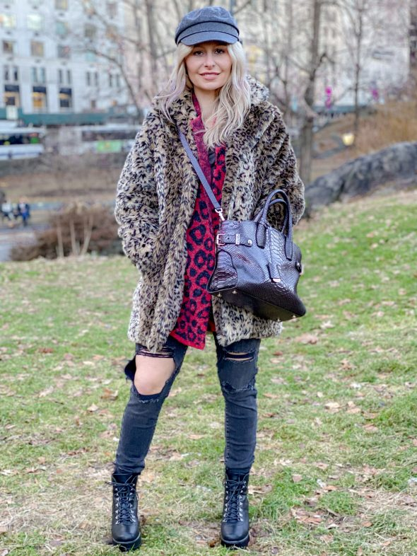 Mixing animal prints and textures