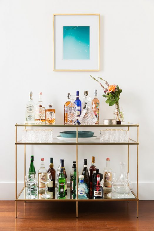 How to Style a Minimalist Bar Cart