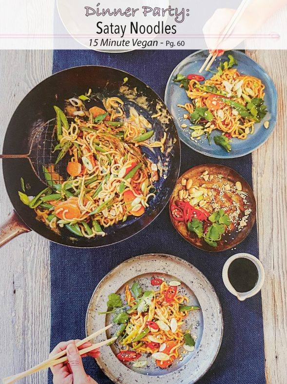 Plant-Based Recipes: Satay Noodles from 15 Minute Vegan