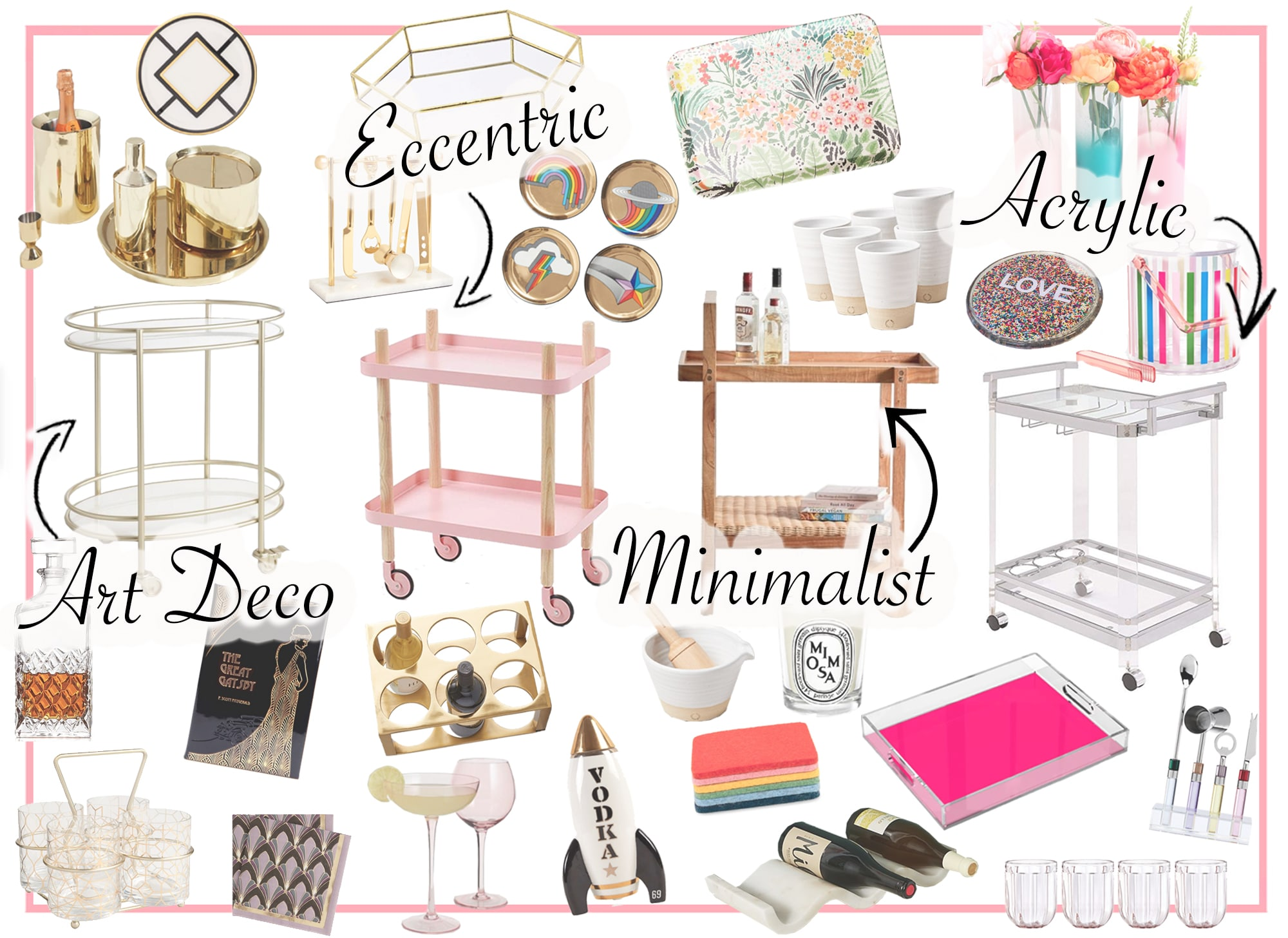 4 Unique Ways to Style A Bar Cart