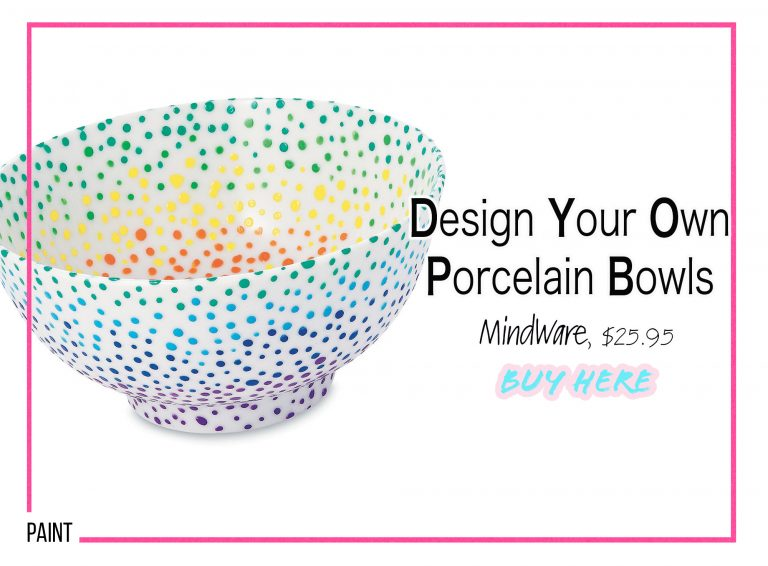 DIY Crafts: Design Your Own Porcelain Bowls
