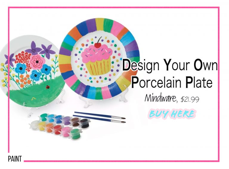 DIY Crafts: Design Your Own Porcelain Plate