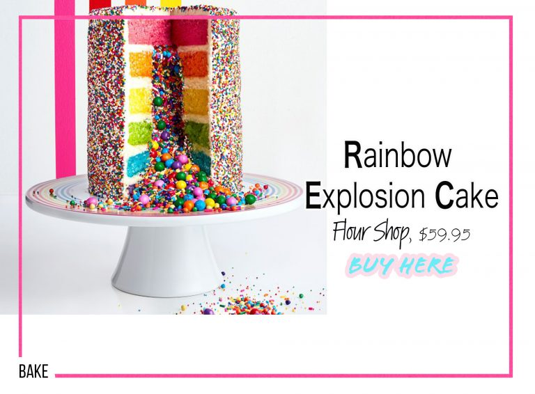 DIY Crafts: Rainbow Explosion Cake