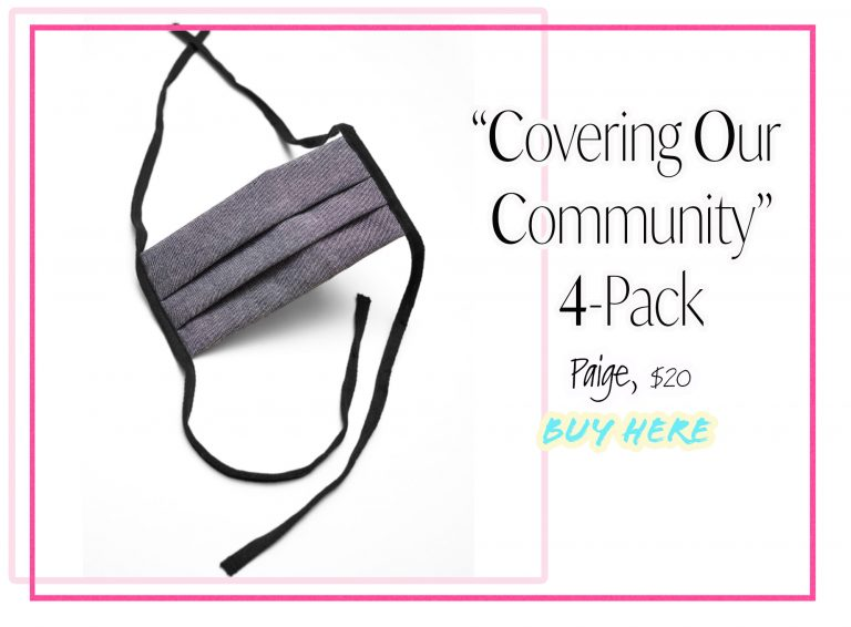 Cloth Face Coverings: Covering Our Community 4-Pack by Paige