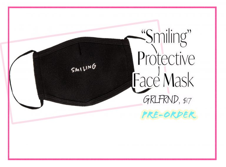 """Cloth Face Coverings: """"Smiling"""" Mask by GRLFRND"""