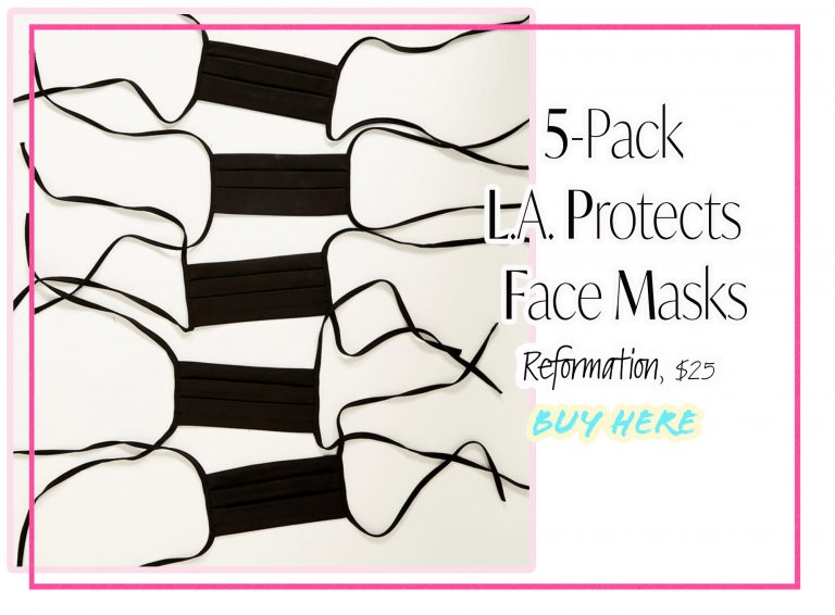 Cloth Face Coverings: 5-Pack L.A. Protects Face Masks by Reformation