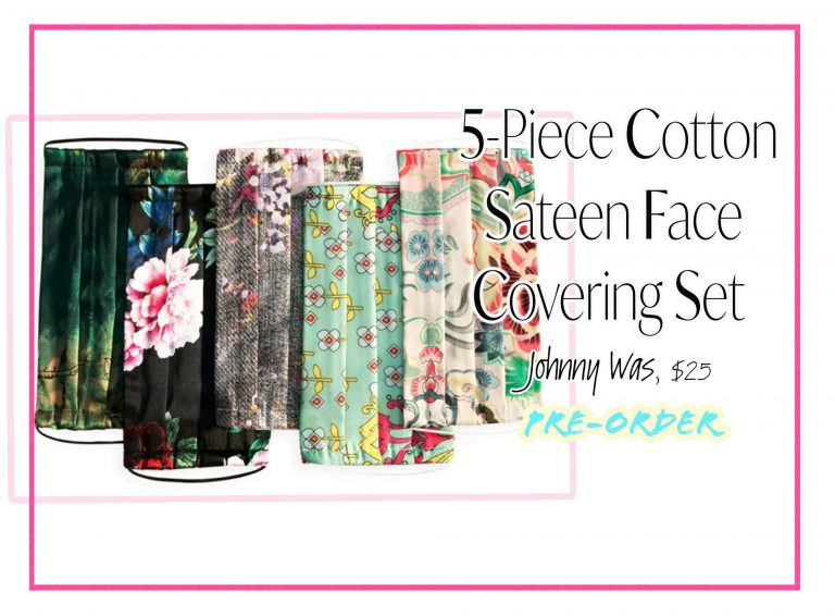 Cloth Face Coverings: Cotton Floral Sateen Set by Johnny Was