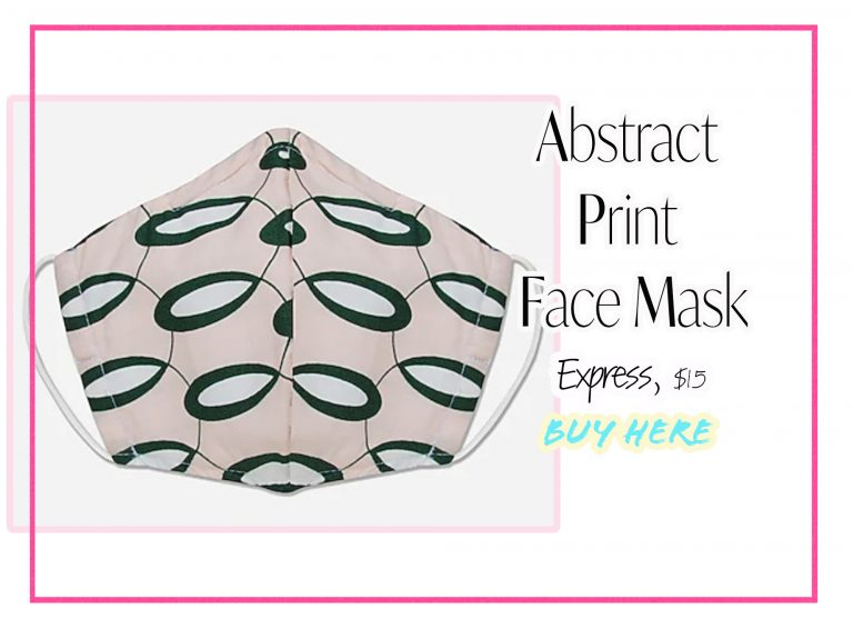 Cloth Face Coverings: Abstract Print Mask by Express
