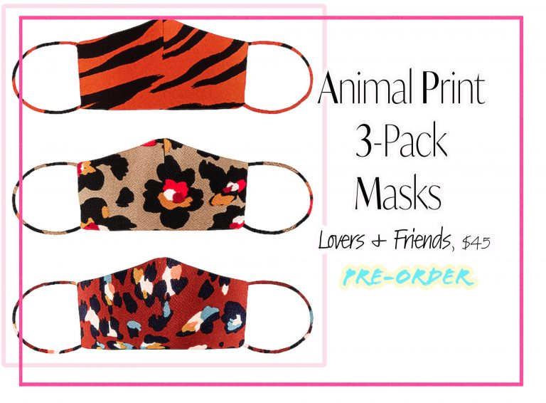 Cloth Face Coverings: Animal Print 3-Pack by Lovers + Friends
