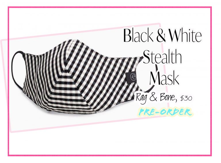 Cloth Face Coverings: Black & White Stealth Mask by Rag & Bone
