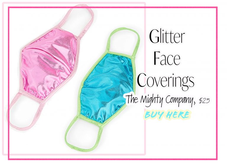 Cloth Face Coverings: Glitter Masks by The Mighty Company