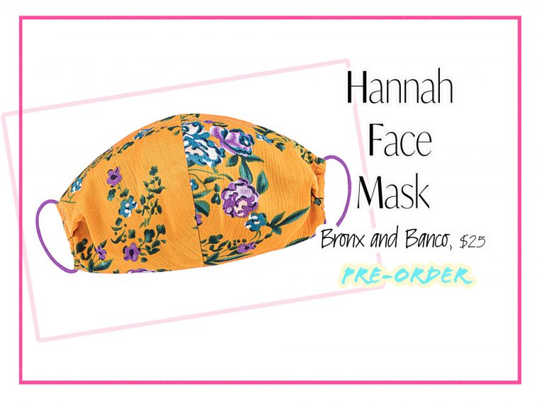 Cloth Face Coverings: Hannah Face Mask by Bronx and Banco