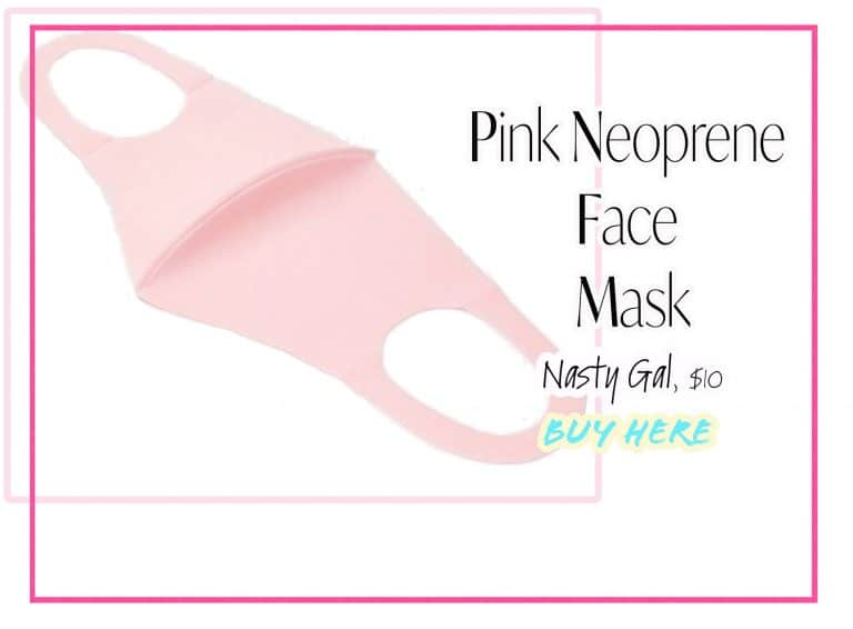 Cloth Face Coverings: Pink Face Mask by Nasty Gal