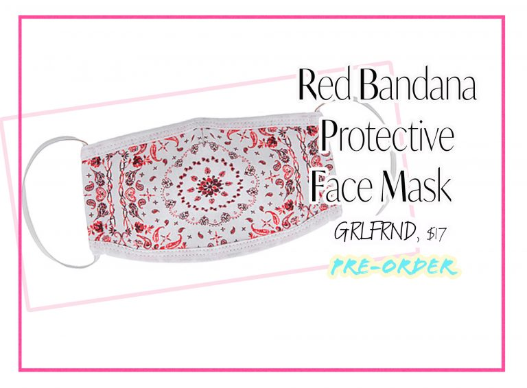 Cloth Face Coverings: Red Bandana Face Mask by GRLFRND