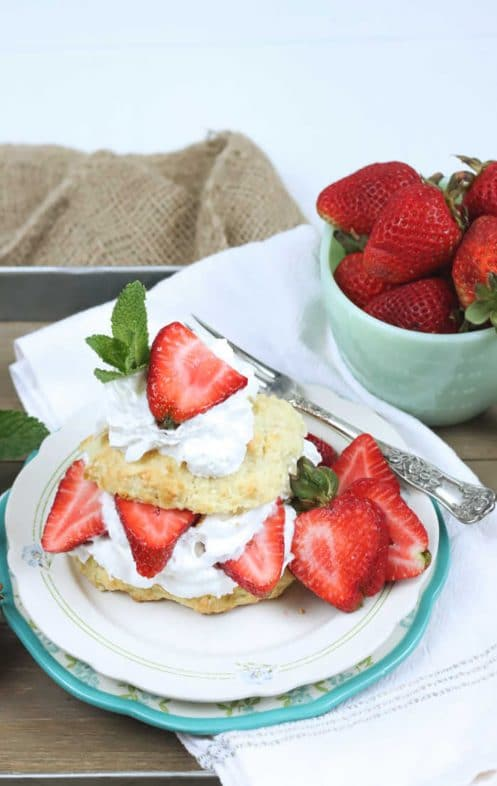 20 Picnic Recipes To Kick Off The Start of Summer: old fashioned strawberry shortcake