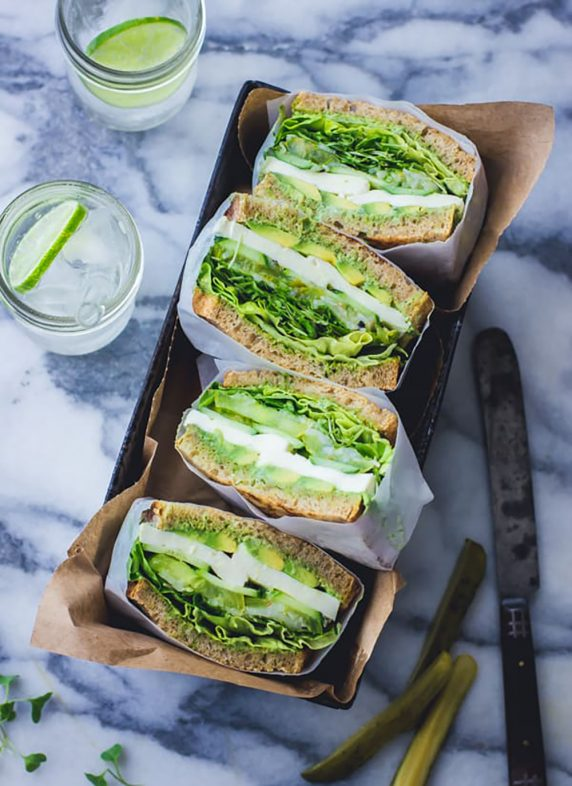 20 Picnic Recipes To Kick Off The Start of Summer: green goddess sandwiches