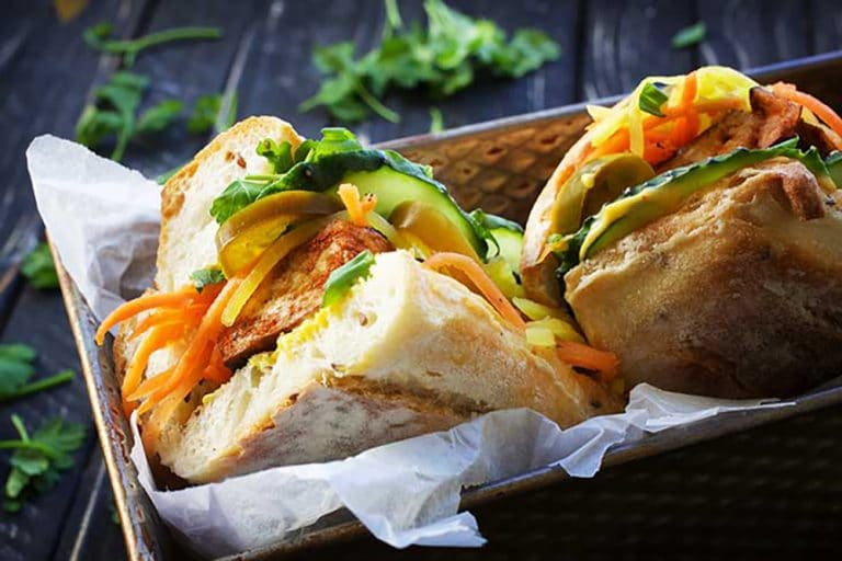 20 Picnic Recipes To Kick Off The Start of Summer: tofu banh mi