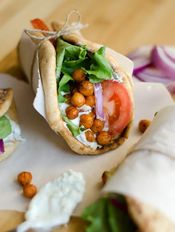 20 Picnic Recipes To Kick Off The Start of Summer: roasted chickpea gyros