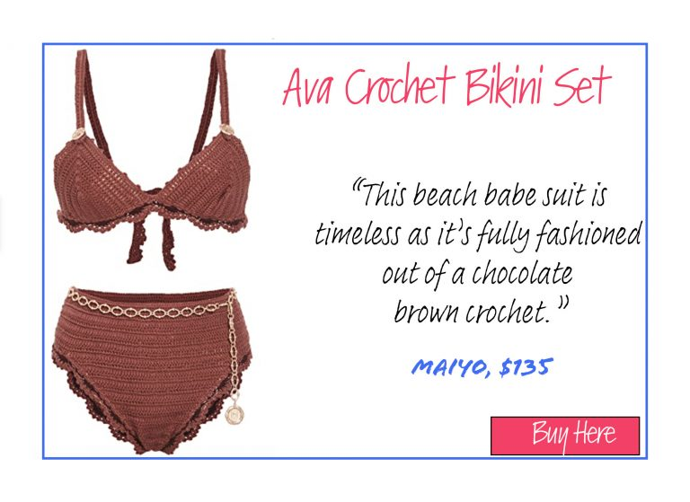 A List of 15 of Our Favorite Swimsuits for 2020: Ava Crochet Bikini Set