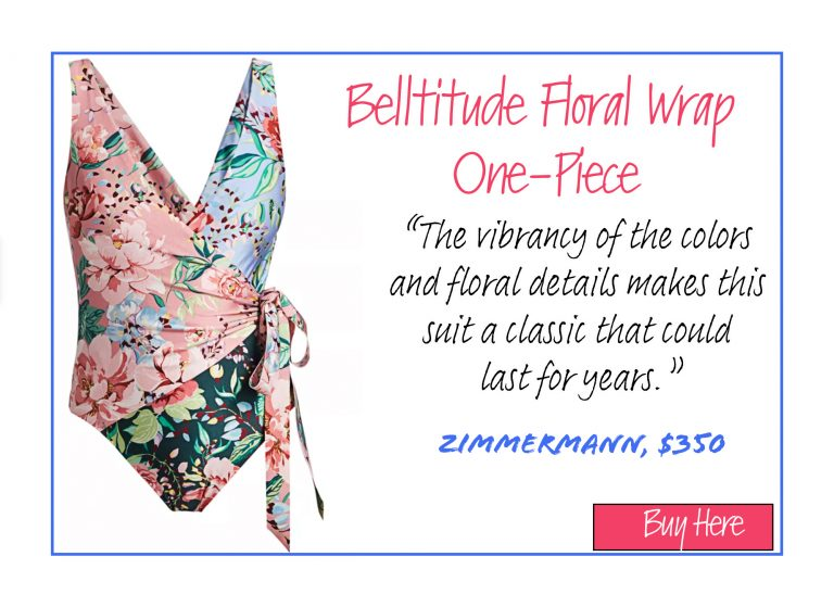 A List of 15 of Our Favorite Swimsuits for 2020: Belltitude Floral Wrap One-Piece