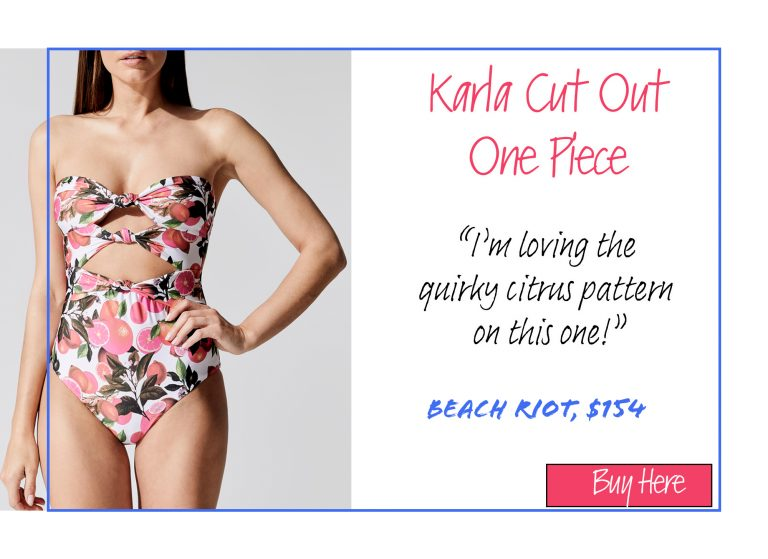 A List of 15 of Our Favorite Swimsuits for 2020: Karla Cut Out One Piece