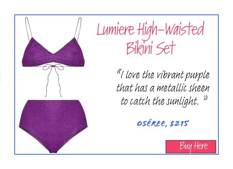 A List of 15 of Our Favorite Swimsuits for 2020: Lumiere High-Waisted Bikini Set